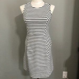 Ann Taylor Sleeveless Stripe Zip back dress Sz. 16
